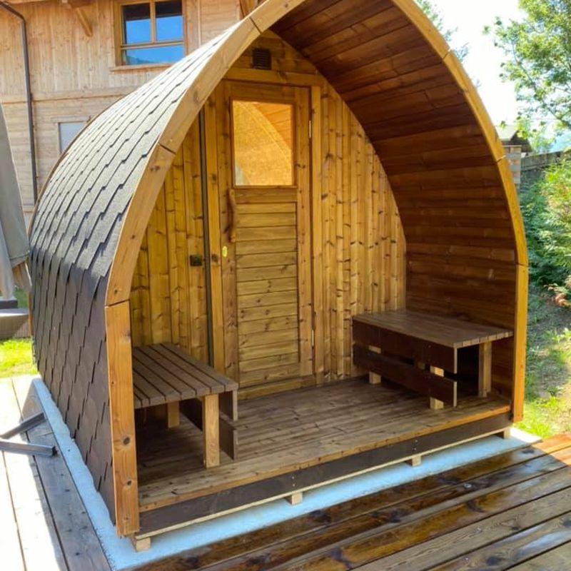 sauna extérieur bois en kit