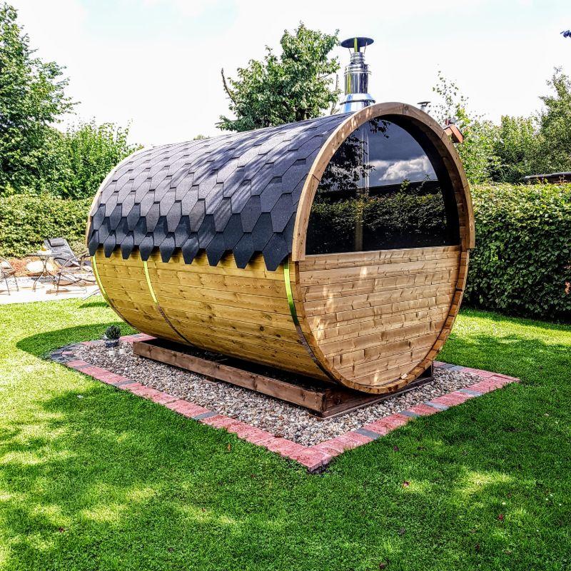 sauna extérieur tonneau